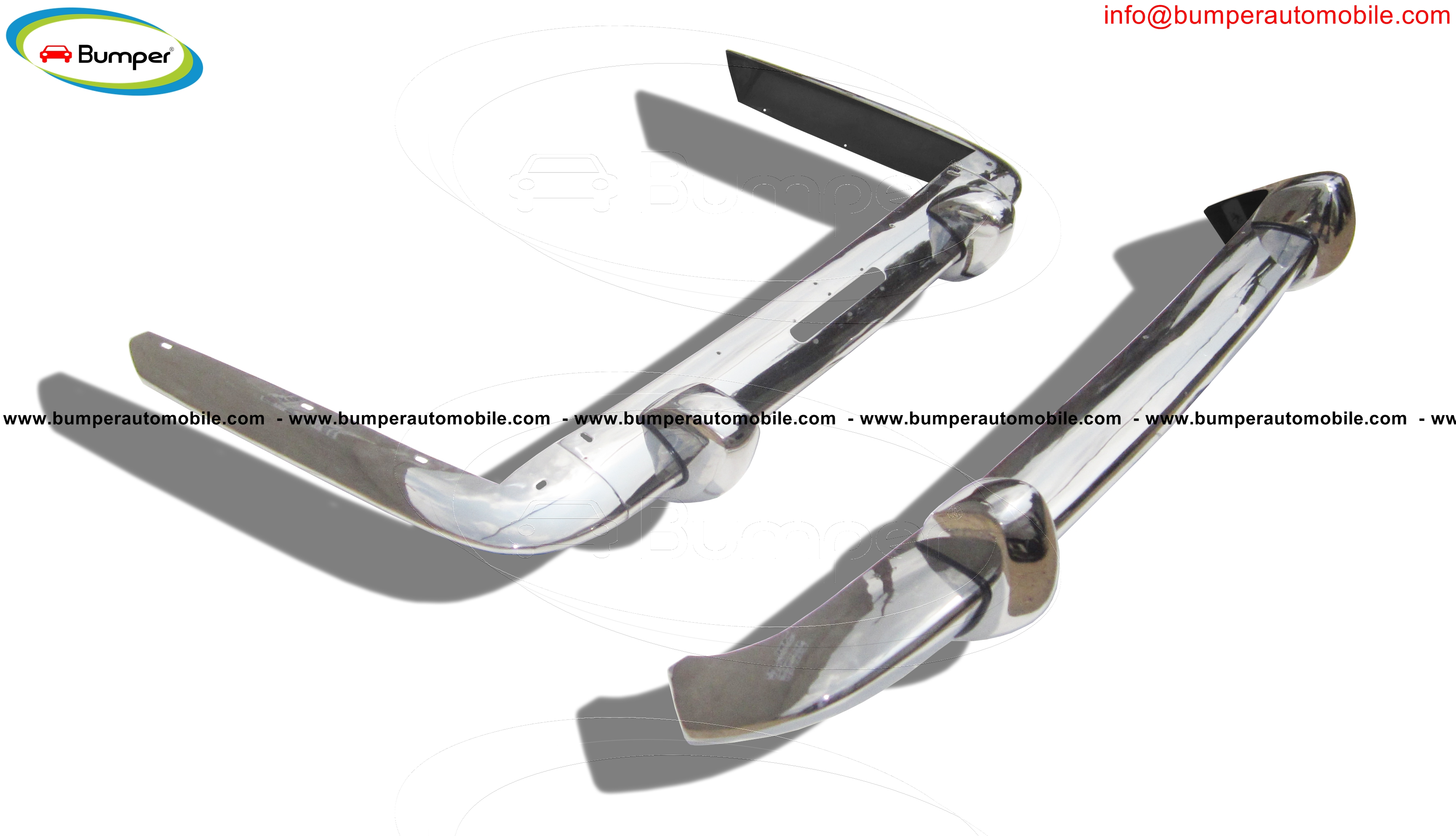 Full set bumper Lancia Flaminia Pininfarina coupe year (1958-1967)
