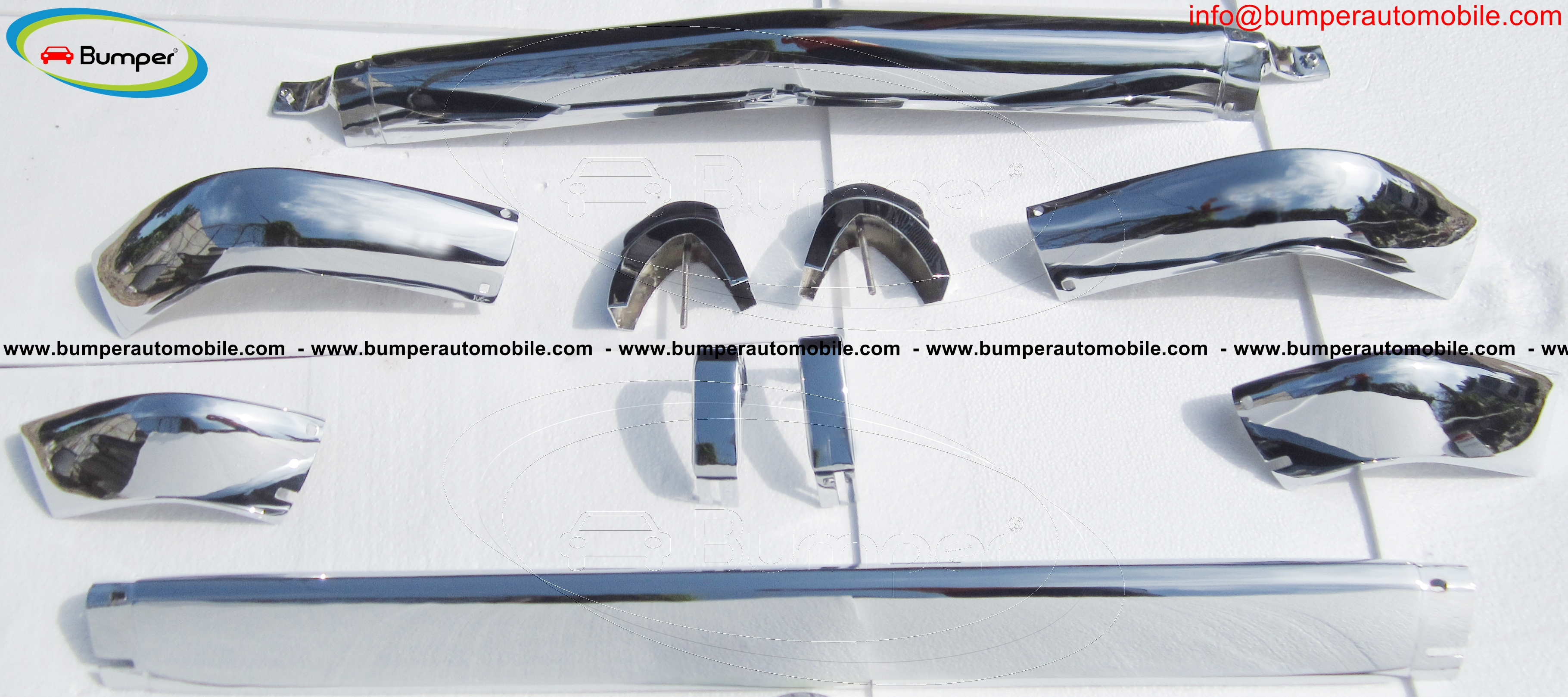 BMW 2002 bumper in stainless steel