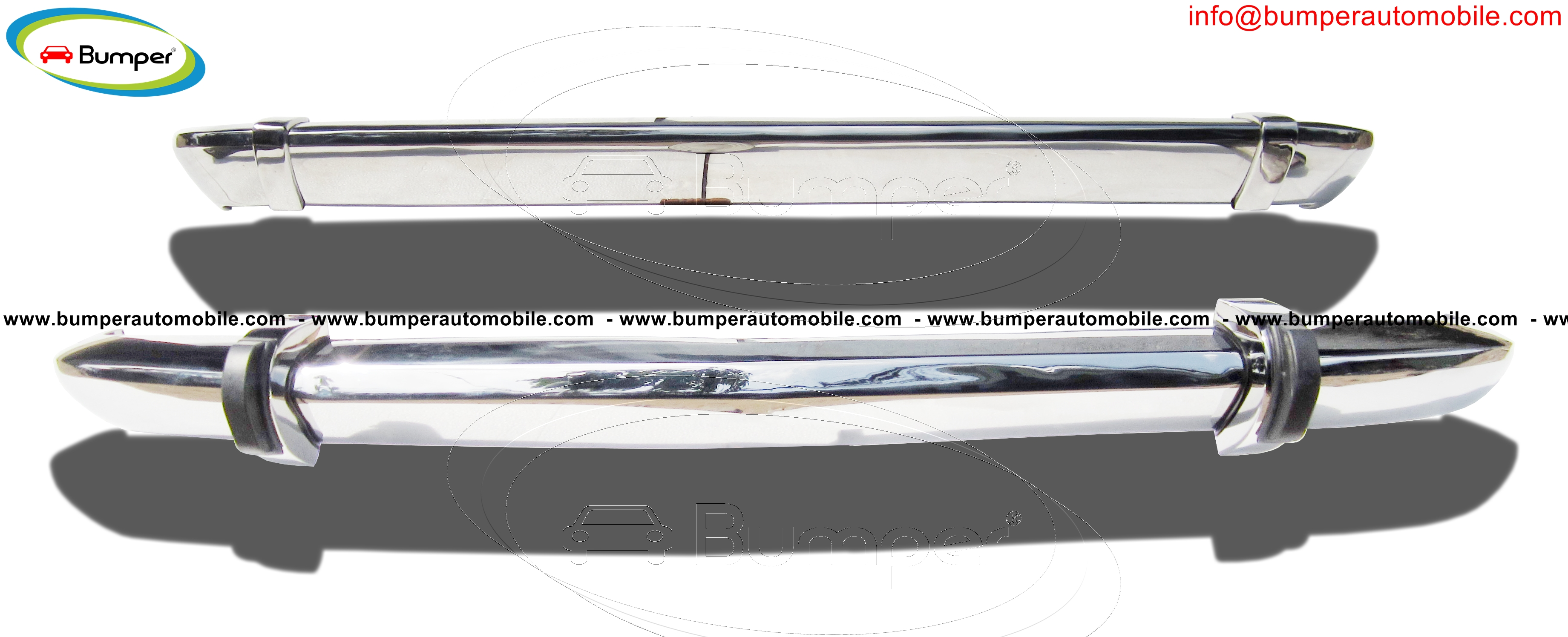 BMW 2002 bumper type short  (1968-1971) stainless steel