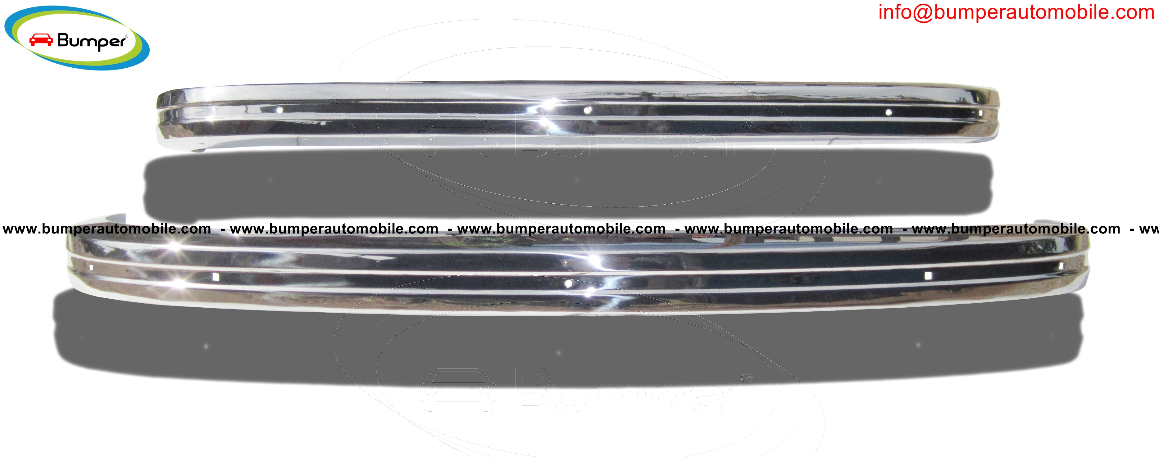 Stainless steel bumper type Volkswagen Type 3 years (1970-1973)