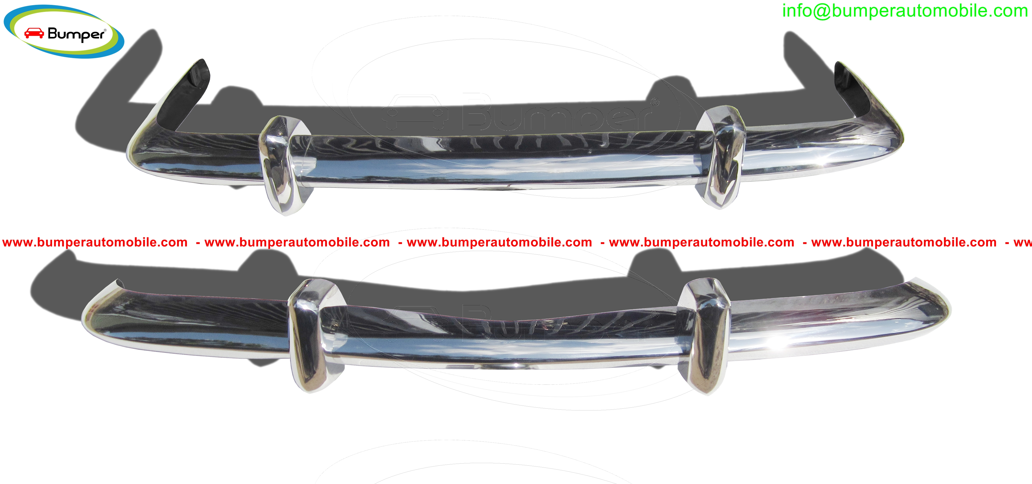 Volkswagen Karmann Ghia Euro style bumpers year (1955-1967),(1967-1969),(1969-1971).