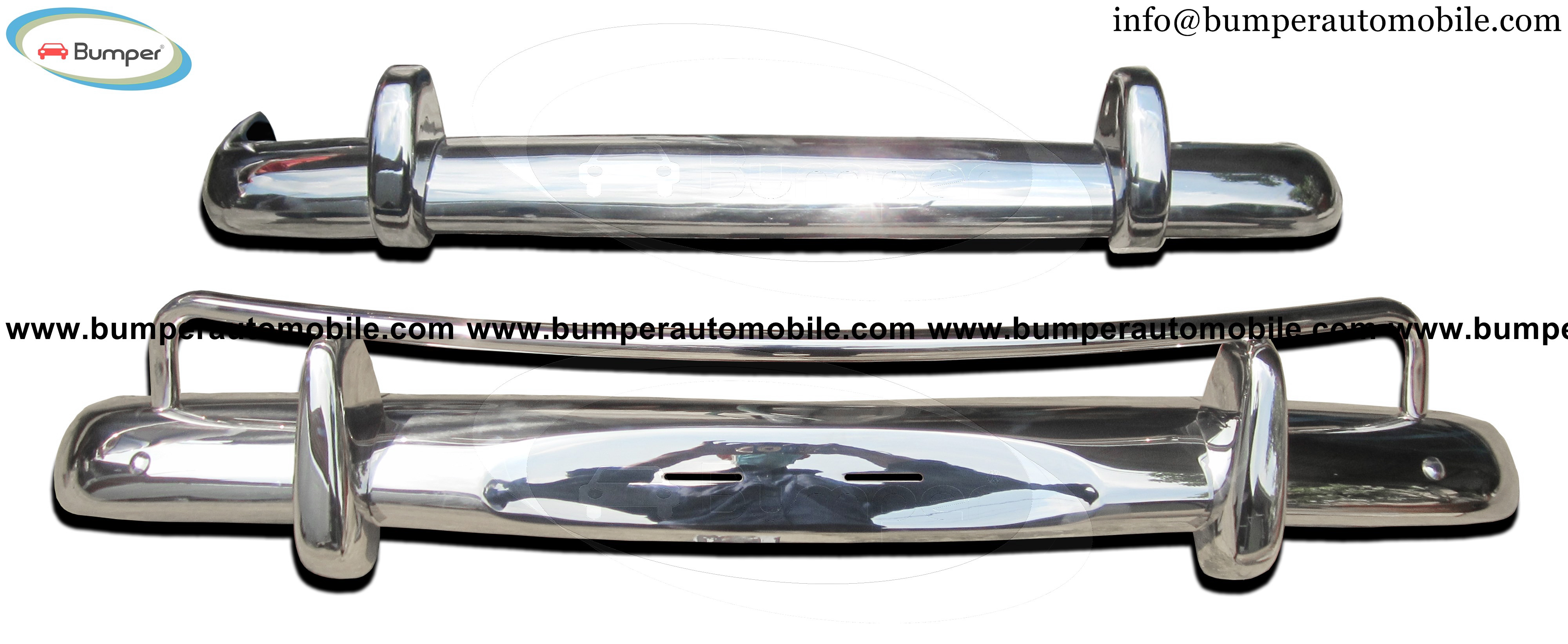 Volvo Amazon USA style (1956-1970) bumper stainless steel