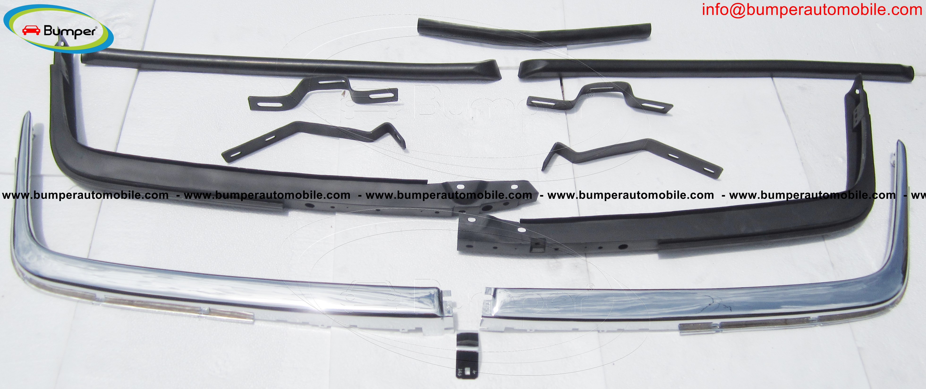 Mercedes W107 front bumper (not assembled)