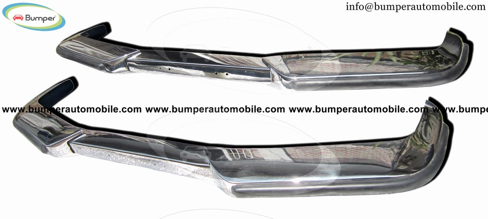 Volvo P1800 coupe and station bumpers (1963-1973) polished stainless steel
