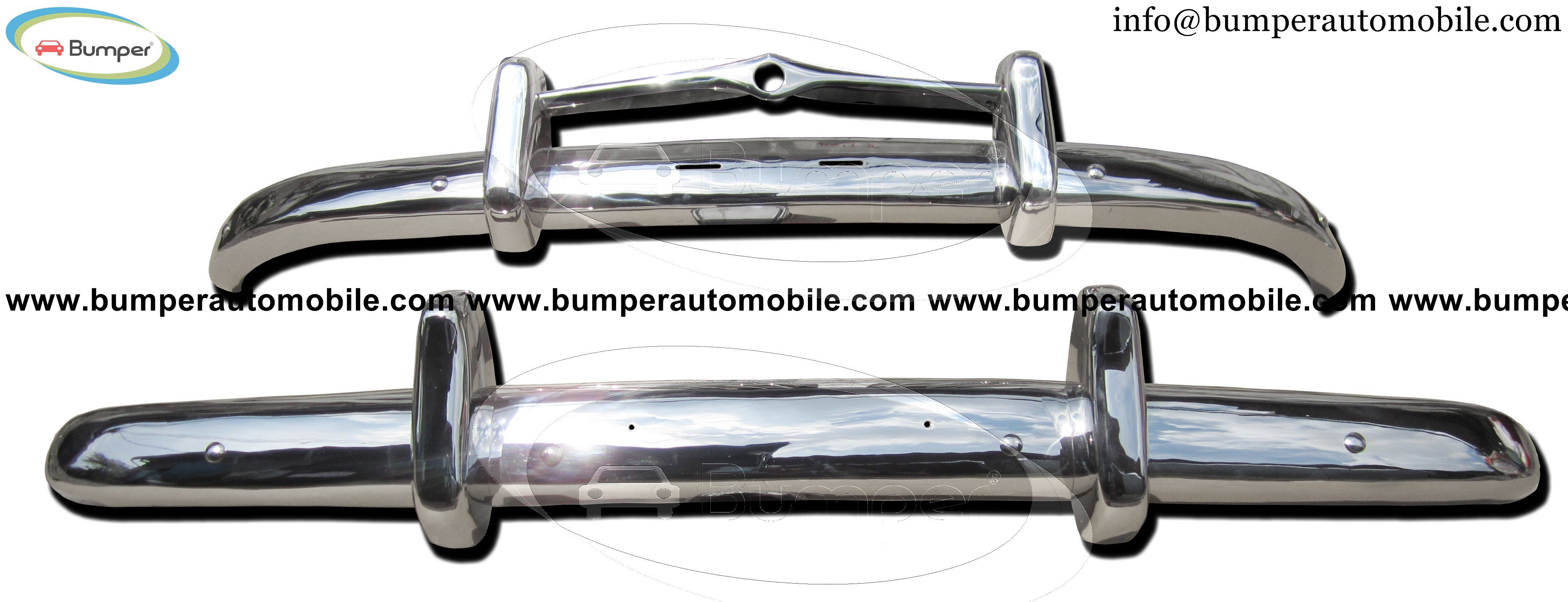 Volvo PV 444 bumpers (1947-1958) polished stainless steel