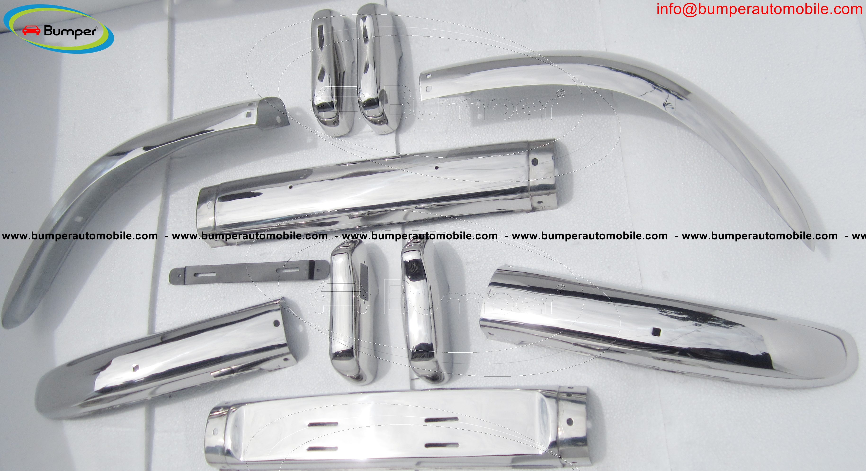 Volvo PV 544 Euro (1958-1965) bumper stainless steel(not assembled)