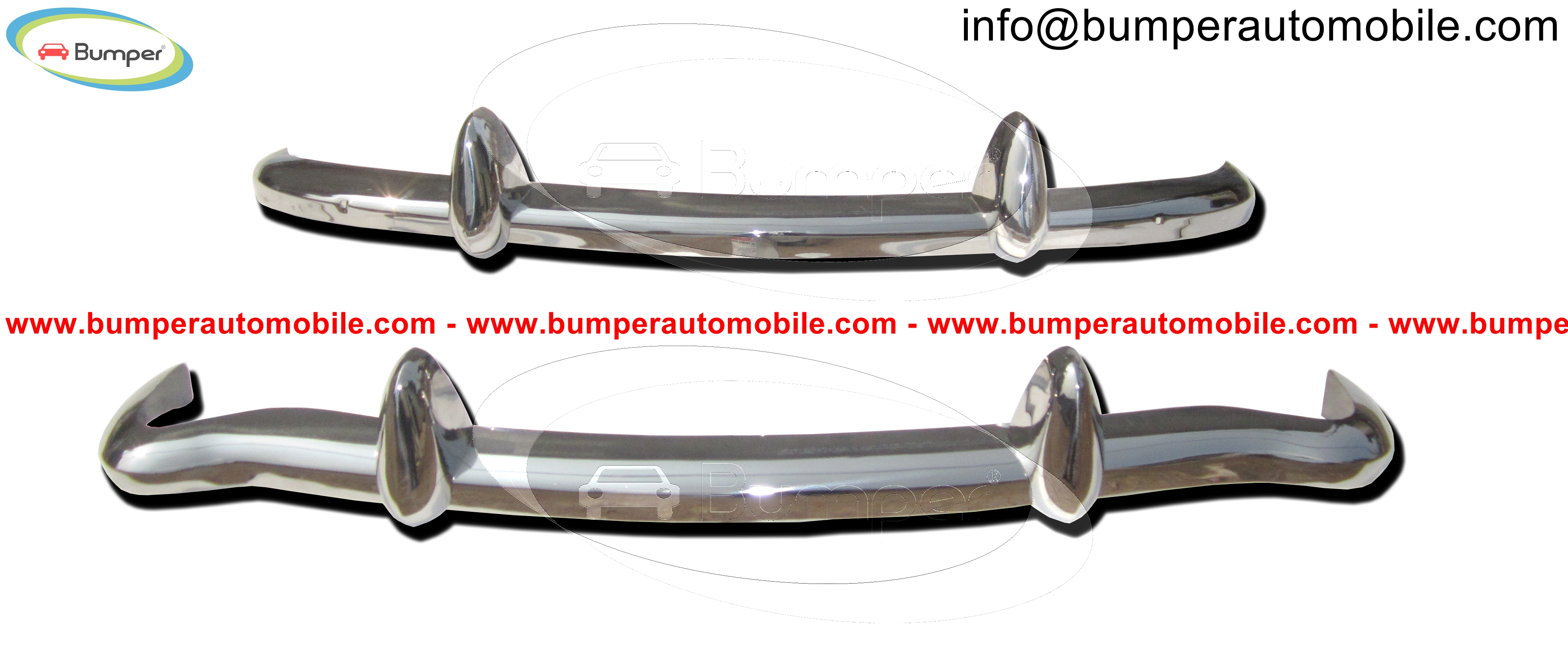 MGB Roadster, MGB GT, MGC Roadster, GT and MGB V8 bumpers (1962-1974) polished stainless steel