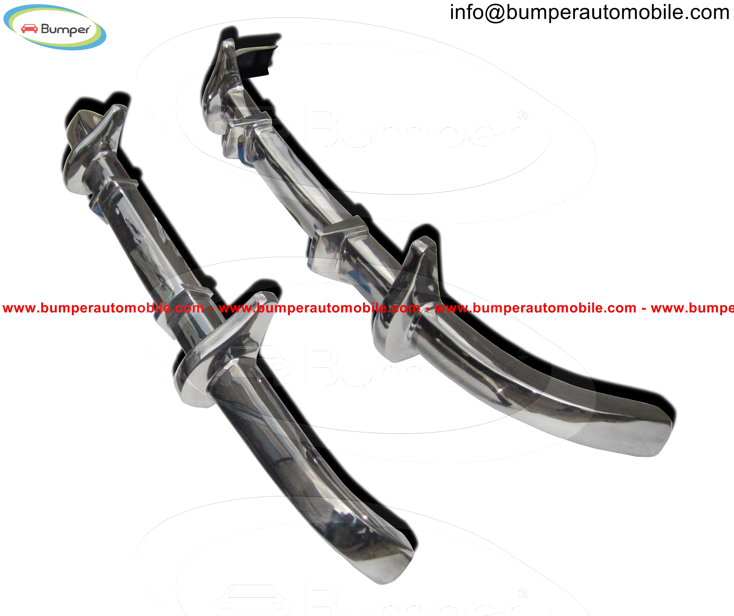 Full set bumper Mercedes W136 W191 170 models (1946-1955)