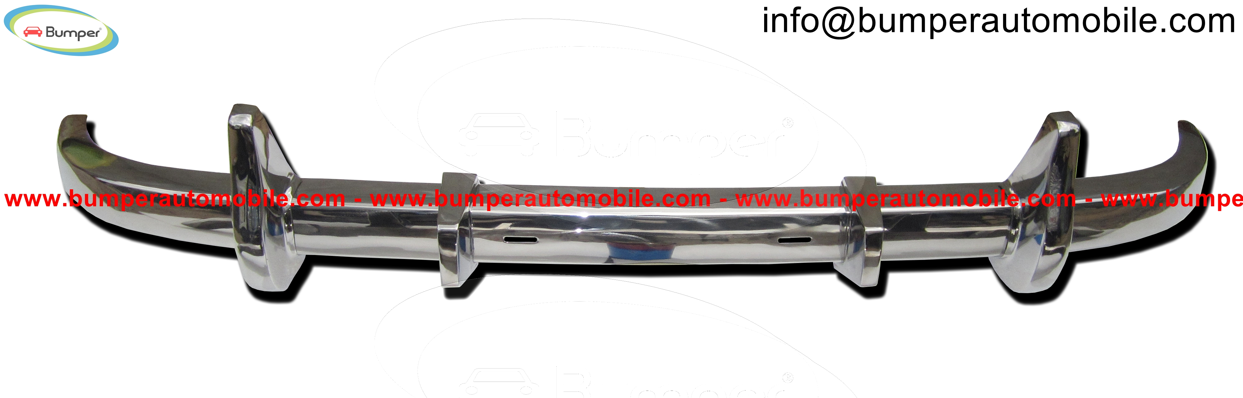 Rear bumper Mercedes W136 W191 170 models (1946-1955).