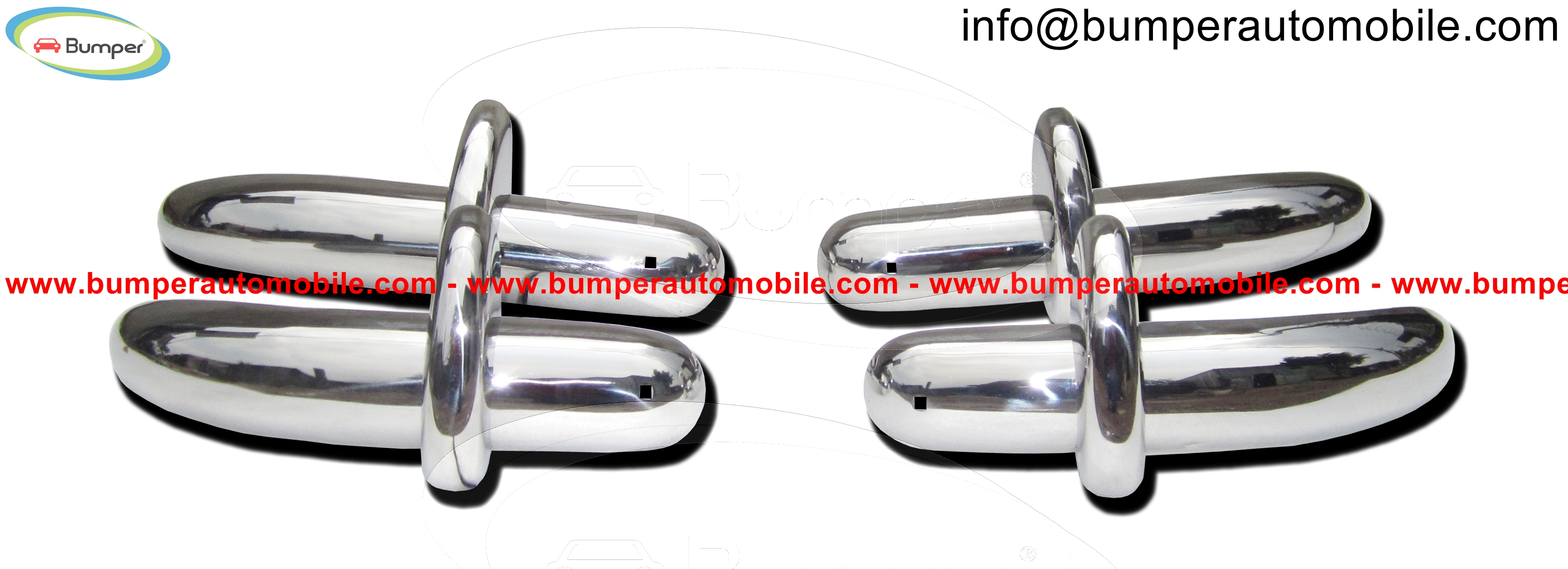Full set bumper Saab 92 (1949-51) and Saab 92B (1952-1956) 2