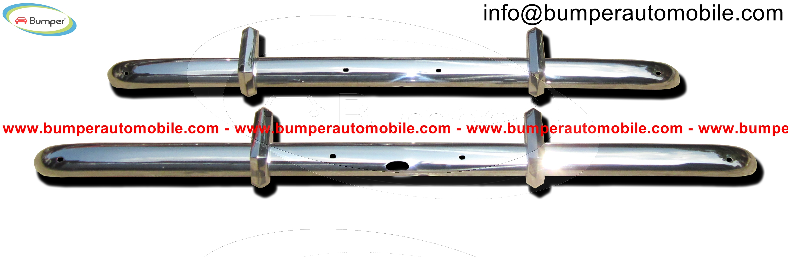 Bristol 400 bumpers ( 1947-1950) polished stainless steel