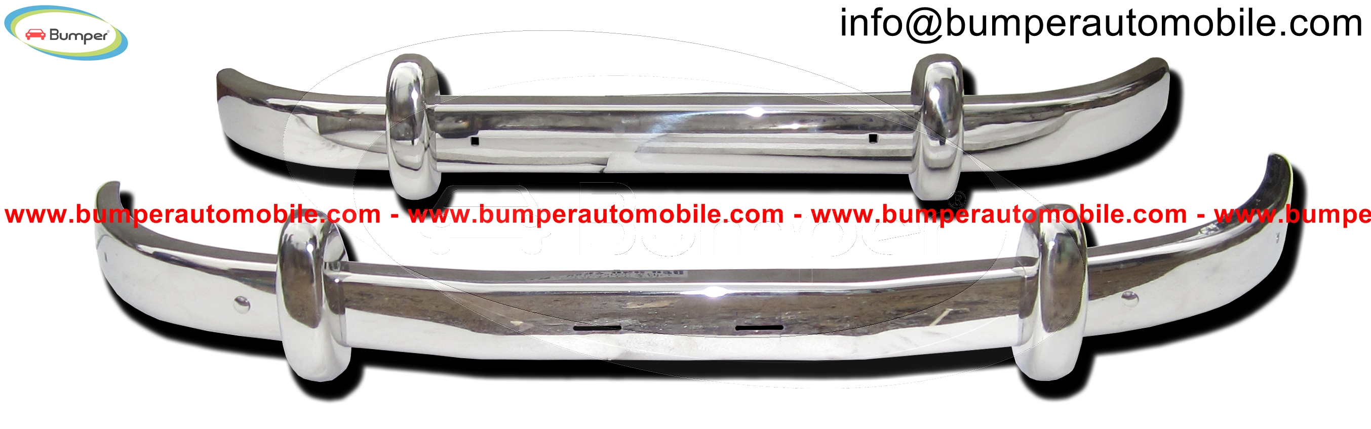 Saab 93 bumpers (1956-1959) polished stainless steel