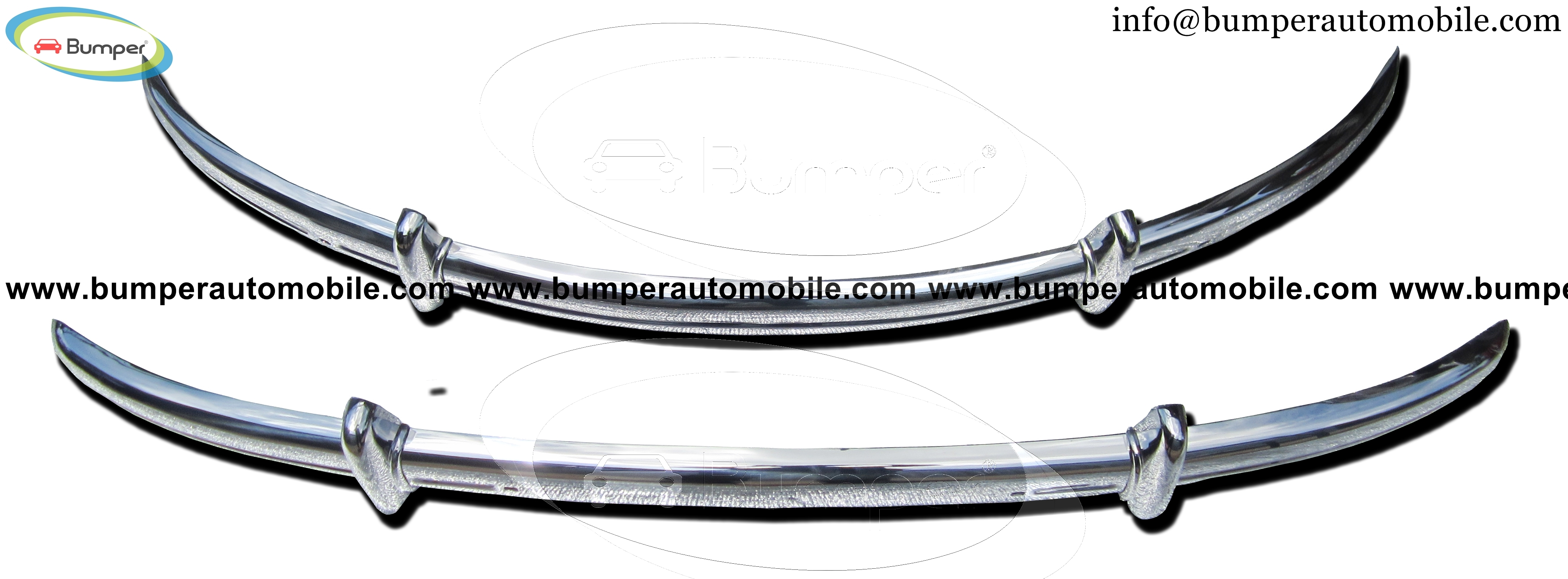 Stainless steel bumper type Volkswagen Beetle Split years (1930-1956)