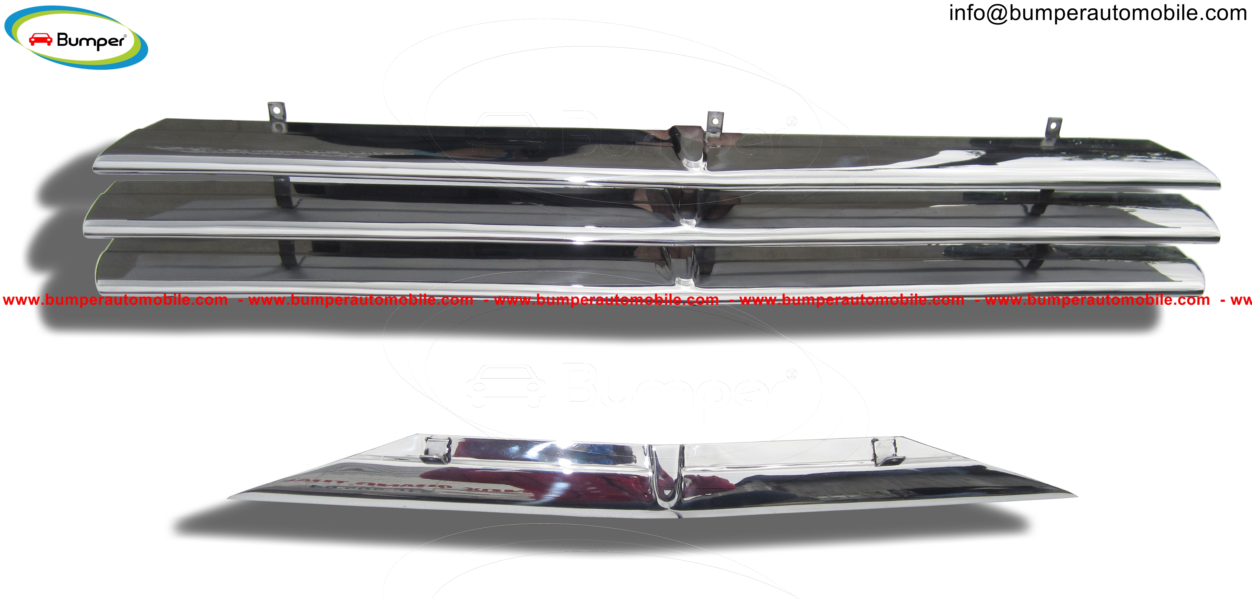 Saab 92 year (1949-1956) and Saab 92B year (1952-1956) grille stainless steel