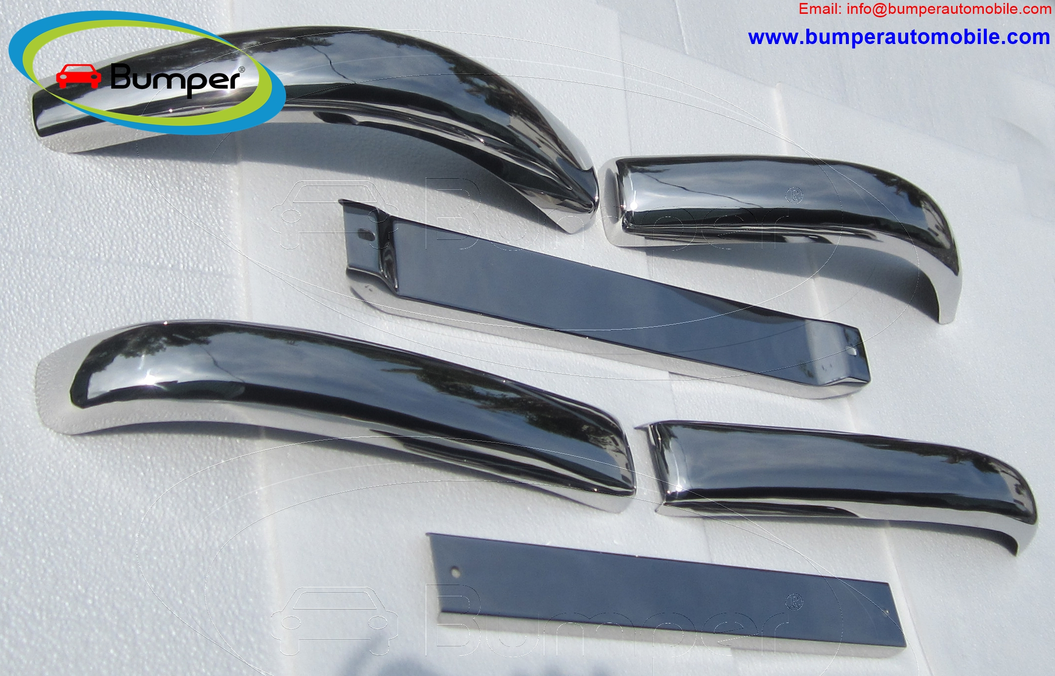 Mercedes W136 170 Vb bumper (1952–1953) full set