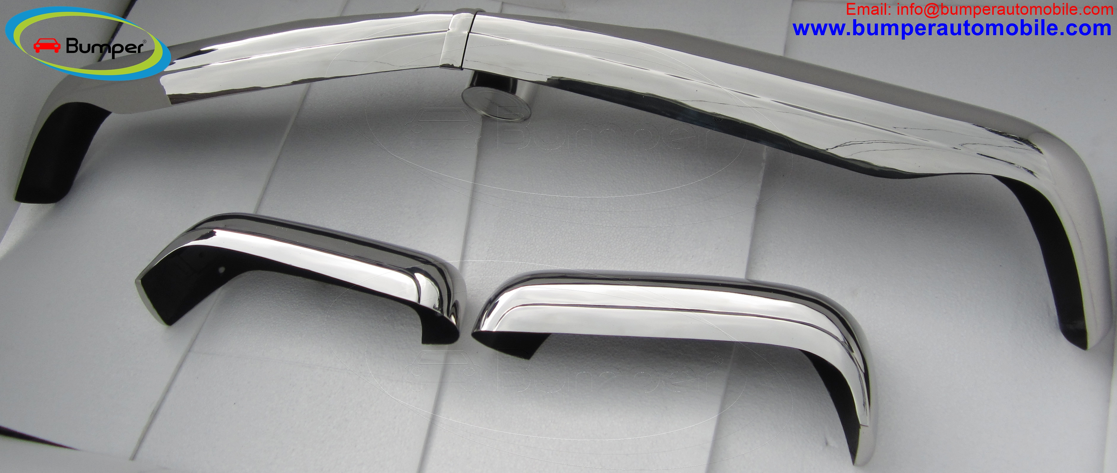 Mercedes W113 bumper ( 1963 - 1971 ) full set