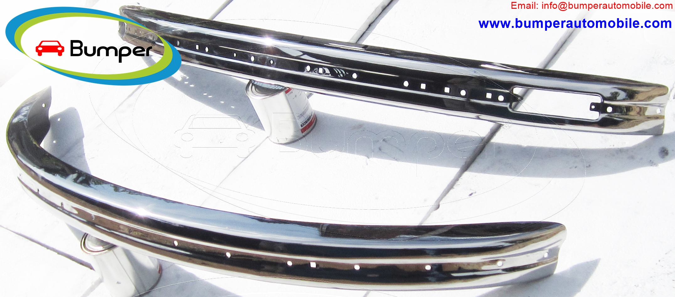 VW Beetle bumpers 1975 and onwards bumper stainless steel