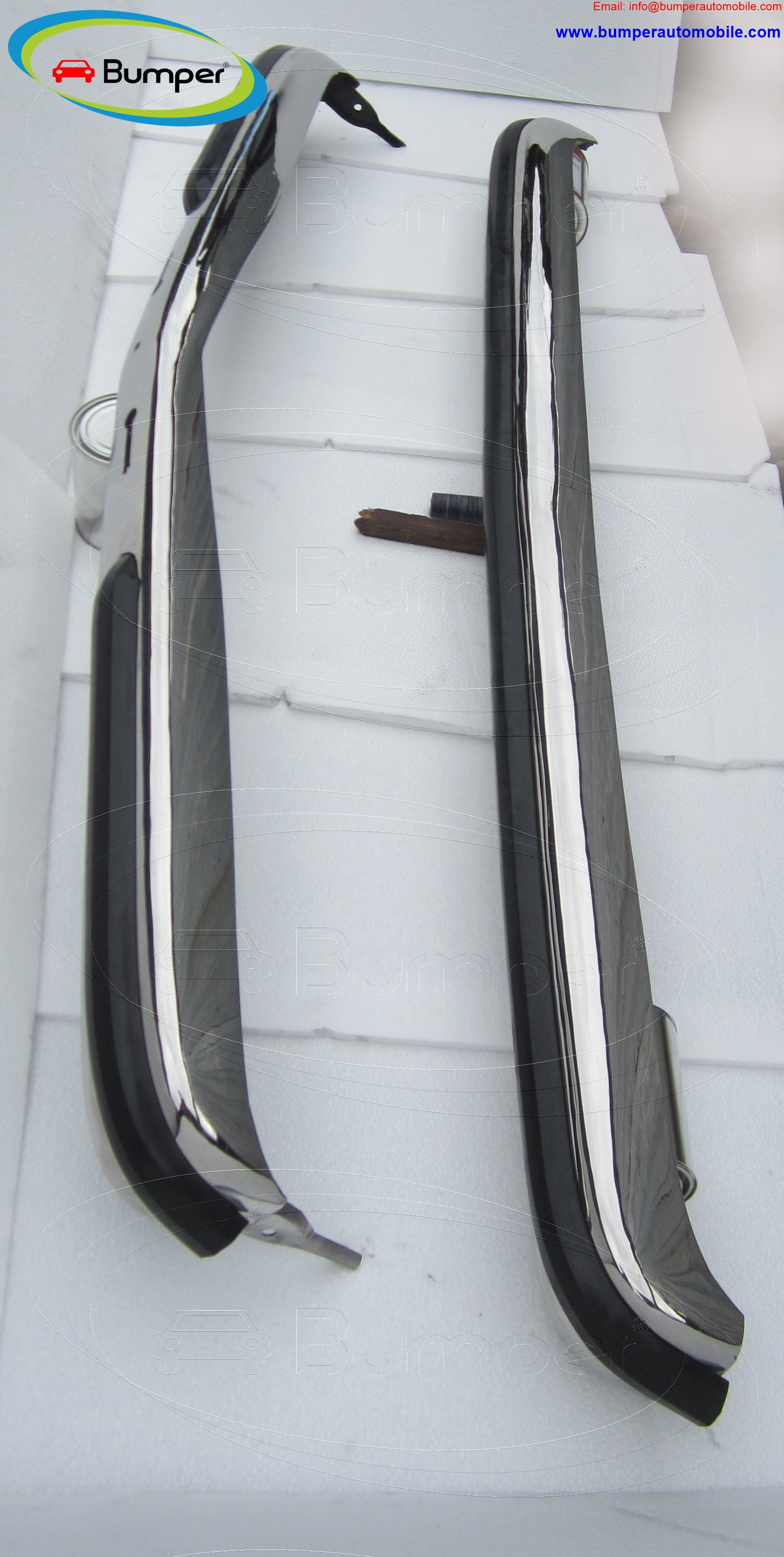 Stainless steel Mercedes W123 Sedan bumper ( 1976 - 1985 )