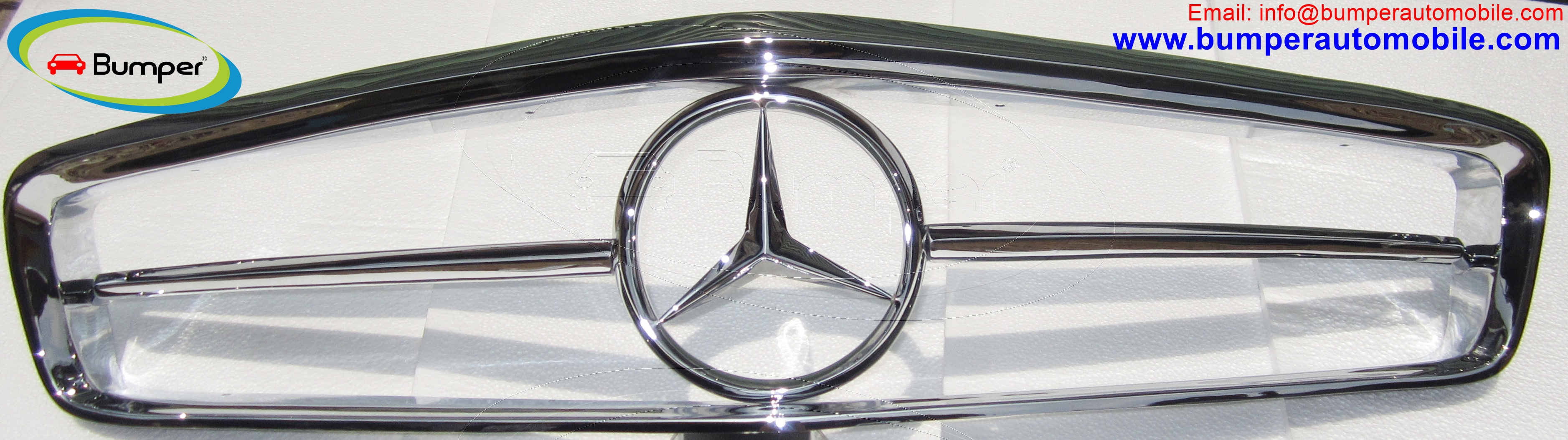 Mercedes W113 grille years (1963-1971) stainless steel