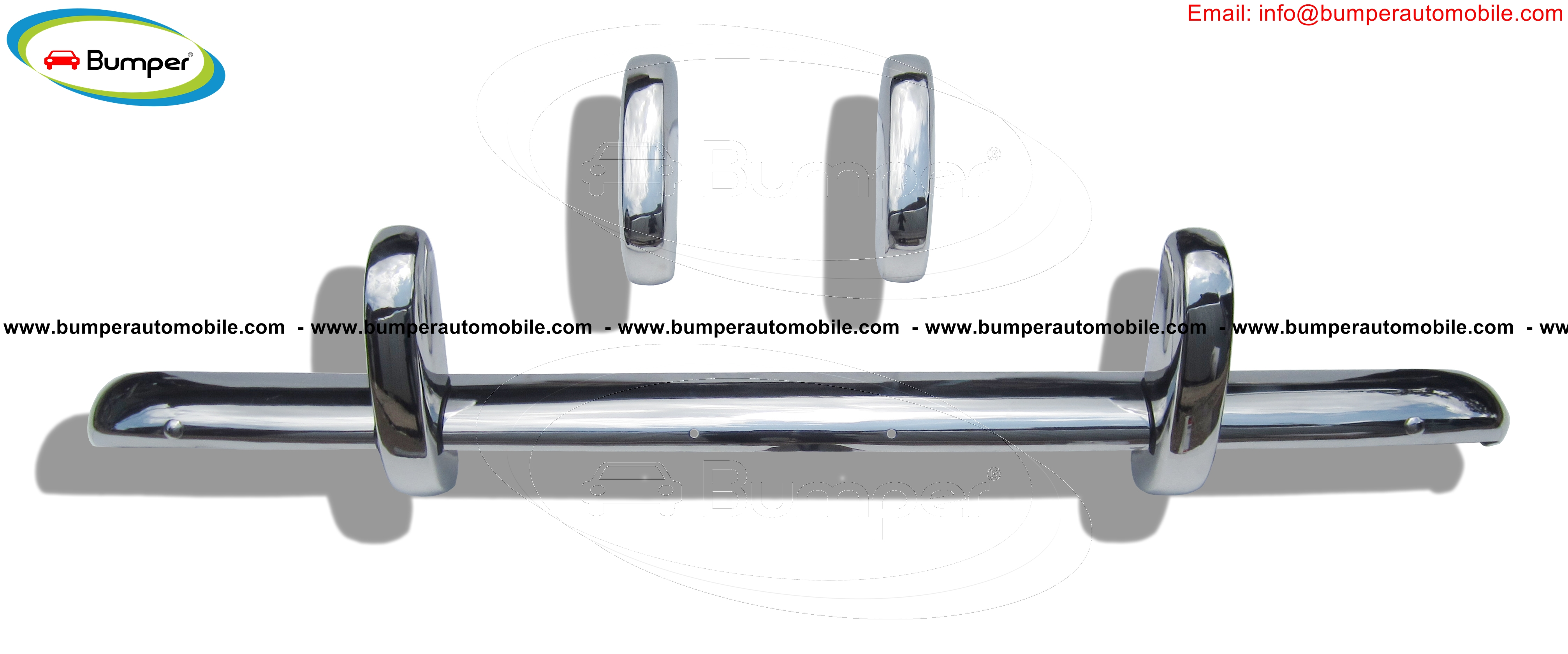 Triumph TR3A (1957–1962) bumpers in stainless steel