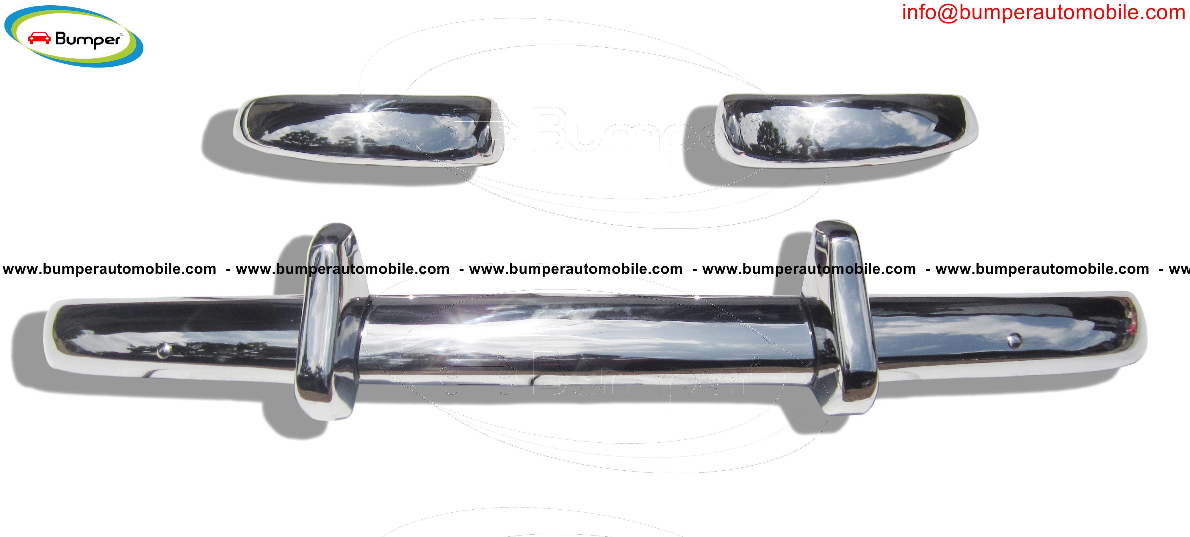 Volvo PV Duett Kombi years (1953-1969) bumpers stainless steel